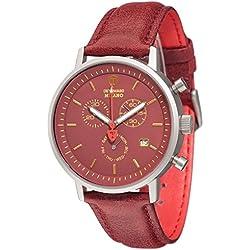 DeTomaso Men's Quartz Watch Chronograph Display and Leather Strap DT1052-T