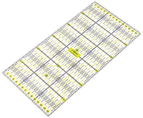 Lialina® righello universale in plastica per patchwork, sartoria, fai da te, qualting trasparente 15x30 cm