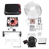 120mm DIY PC Water Liquid Cooling Fan Kit Heat Sink Set CPU Block