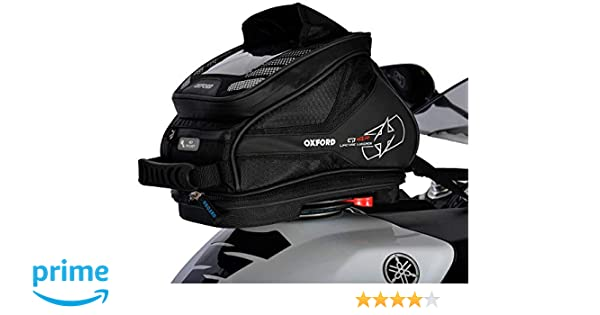 Oxford OL290 Black 4 L Tank Bag Q4R Quick Release Motorcycle