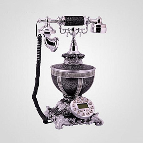 Liu Yu·kreative Hause, kreative schwarze Harz Hause Wohnzimmer Dekoration personalisierte Retro-feste Telefon (Adressbuch Personalisierte)