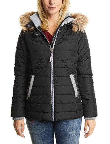 CECIL Damen Jacke 200165 Schwarz (Black 10001), Large