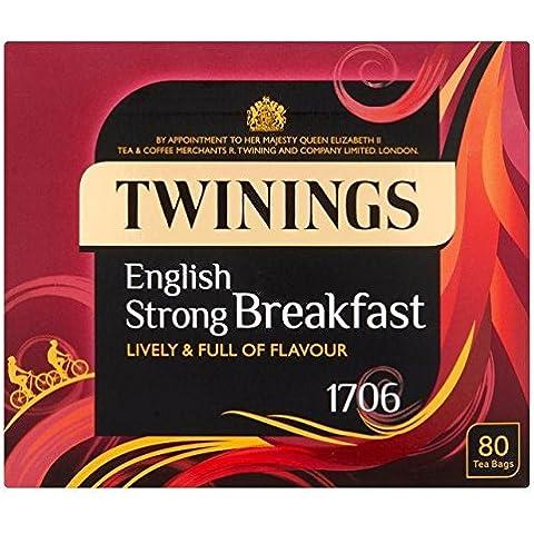 Twinings 1706 Tè Forte Prima Colazione 80 Per Confezione - Twinings Colazione Tè