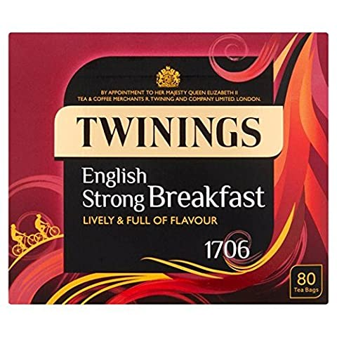 Twinings 1706 Strong Breakfast Tea 80 per pack - Twinings Colazione Tè