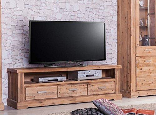 Möbelkultura COL-1Wohnwand tv-schrank, Vitrine Bücherschrank, Holz, braun / grau, 70 x 174 x 200 cm - 4