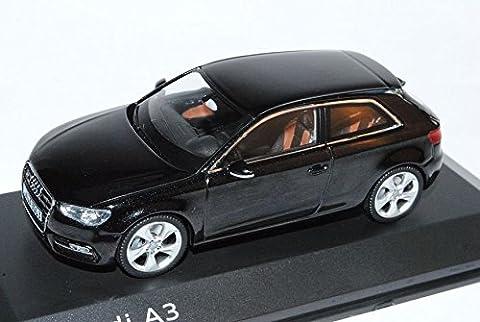 Audi A3 3 Türer Phantom Schwarz 8V Ab 2012 1/43 Schuco Modell Auto mit individiuellem