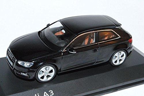 Preisvergleich Produktbild Audi A3 3 Türer Phantom Schwarz 8V Ab 2012 1/43 Schuco Modell Auto mit individiuellem Wunschkennzeichen
