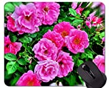 Mauspad aus Naturkautschuk, bedruckt mit Naturblumen