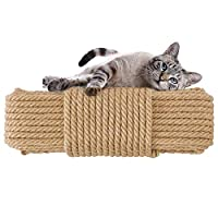 Aoneky Cat Scratching Sisal Rope Posts Trees Replacement (98FT, 6mm)
