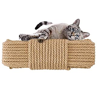 Aoneky Cat Scratching Sisal Rope Posts Trees Replacement (164FT, 8mm)