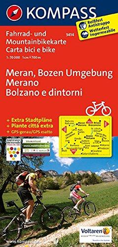 Meran, Bozen Umgebung - Merano, Bolzano e dintorni: Fahrrad- und Mountainbikekarte. GPS-genau. 1:70000: Fietskaart 1:70 000 (KOMPASS-Fahrradkarten International, Band 3414)