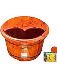 XWG Foot Barrel / Footbath / Wash Basin / Santé Foot Bath Pied Barrel / Foot Massage Bassine / Cèdre Bois Foot Bath ( couleur : 1# )