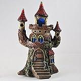 Fée Jardin anglais Magic Castle Maison Jardin mystique Intérieur elfe Pixie Home avec lumières LED: