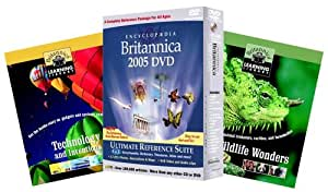 Encyclopedia Britannica 2005 Ultimate Reference Suite DVD (plus two Britannica Learning Library Books)
