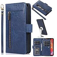 جراب محفظة به 9 فتحات للبطاقات متعددة الوظائف iPhone 11 Pro ازرق