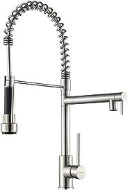 G4005 GRIFEMA professionele keukenkraan met uittrekbare douche, Satin