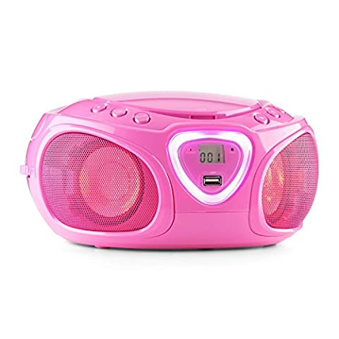 auna Roadie Ghettoblaster Boombox (CD-Player, USB-Port, MP3, Radio, Bluetooth 2.1,