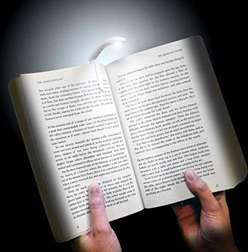 Inspiring TechTM Battery Powered Super Bright LED Clip-on Style Reading Book Night Light Lamp for Reading Mini Clip on Reading Light Unique Flexible Bright led Light(White)