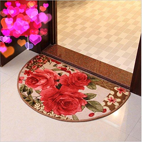 GFYWZ Portico di semi casa bagno acqua-assorbente cuscini stampati tappeto , 45*70