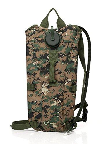 lazutom 3L MOLLE Hydration System Pack Military Wasser Tasche Tasche für Klettern Rucksackreisen mit abnehmbarer Blase - CS