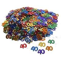 Amscan metallo coriandoli multicolori per 40 anni la festa di compleanno - 40 Festa Di Compleanno