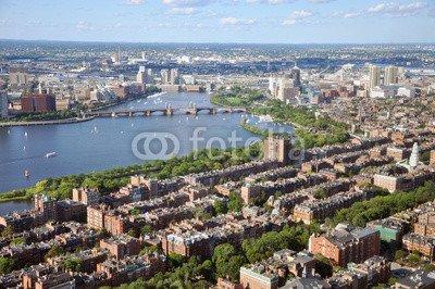Boston Back Bay (Alu-Dibond-Bild 120 x 80 cm: