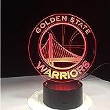 Nba Golden State Warriors 3D Led Nachtlicht 7 Farben Ändern Schlafen Tisch Schreibtisch Lampe Lampe Schlafzimmer Sport Fans Dekor Geschenk