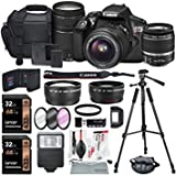 #8: Canon EOS Rebel T6 DSLR Camera Bundle with EF-S 18-55mm f/3.5-5.6 IS II Lens, EF 75-300mm f/4-5.6 III Lens and Accessories (18 items)