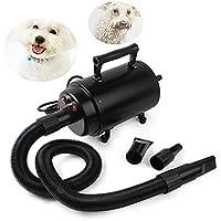 Secador de Pelo Para Perros Gatos Mascotas soplador Secador de pelo de belleza Para Mascotas Potencia 2800 Negro