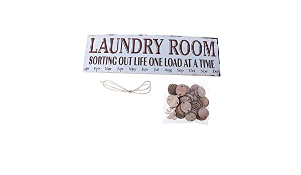 HennYO Colorful Wooden DIY Hanging Calendar Laundry Room