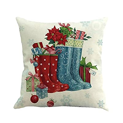 Clearance! Christmas Pillow Case,Xmas Dyeing Printing Sofa Bed Home Decor Festival Pillow Cover Party Cushion Cover 45cmx45cm By Kavitoz - low-cost UK light store.