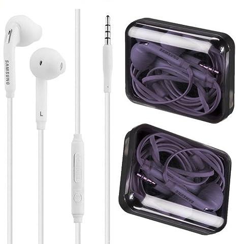 Samsung Écouteurs avec fonction mains libres Kit piéton pour Samsung Galaxy S6/S6Edge S7/S7Edge S8/S8Plus Blanc (en coffret)