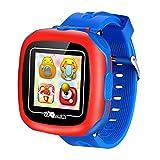 Niños Relojes Inteligentes con Juegos,1.5' Touch Niños Rastreador Podómetro Reloj de Cuenta de Pasos Temporizador Digital de Salud Regalos de Cumpleaños al Aire Libre para Niño Niña (Blue-W8)