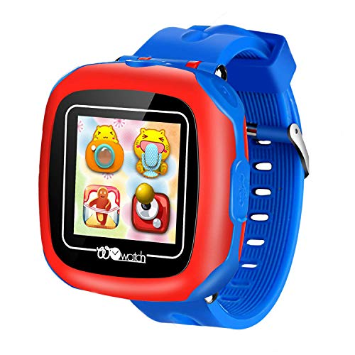 Orologi intelligenti per bambini con giochi, 1.5'Touch bambini Pedometro Tracker Conteggio passi Orologio digitale Timer Regali di compleanno per Boy Girl (W8-blue)
