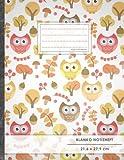 Blanko Notizbuch ? A4-Format, 100+ Seiten, Soft Cover, Register, ?Retro Owls? ? Original #GoodMemos Blank Notebook ? Per