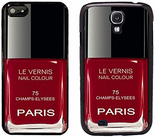 Coque Vernis Paris pour iphone 4 5 6 7 8 X et Samsung S2 S3 S4 S5 S6 S7 S8 Note (S5)