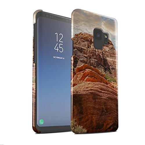 Stuff4® Glanz Snap-On Hülle/Case für Samsung Galaxy S9/G960 / Berge Muster/Bundesstaat Nevada Kollektion