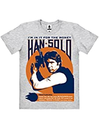 Star Wars - Han Solo - I'm In It For The Money T-Shirt 100 % coton organique (agriculture biologique) - gris chiné - design original sous licence - LOGOSHIRT