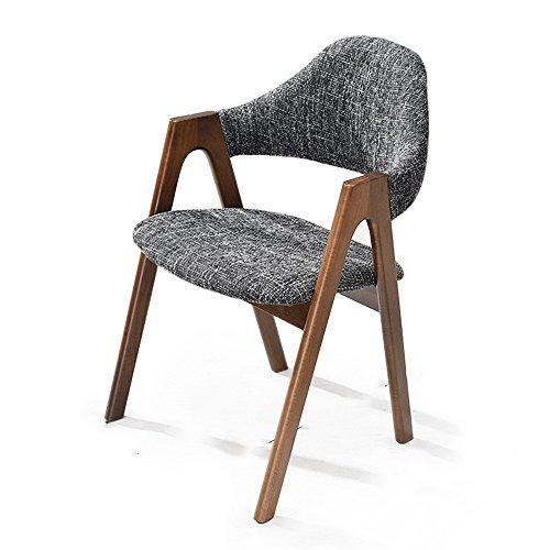 KFXL yizi Chaise En Bois Massif Fauteuil Maison Table Chaise Simple Moderne Salle à Manger Chaise De Mode Étude Tissu Tabouret 6 Couleurs En Option (Couleur : D)