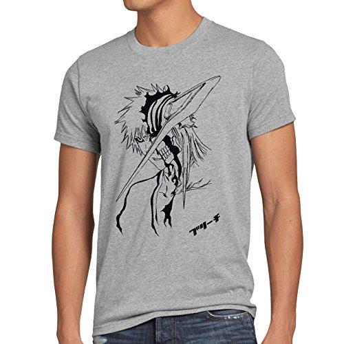CottonCloud Ichigo Herren T-Shirt Shinigami Grau Meliert