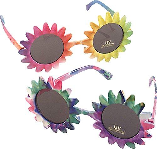 Erwachsene Hawaii 1970s Ausgefallen Party Zubehör Sonnenblume Form Mehrfarbig ()