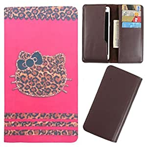 DooDa - For Micromax Bolt Q331 PU Leather Designer Fashionable Fancy Case Cover Pouch With Card & Cash Slots & Smooth Inner Velvet