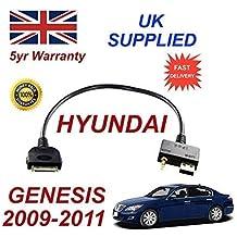 Hyundai Genesis 2009 - 2011 ipod iphone 3gs 4 4s conectividad audio 3.5mm & Cable USB