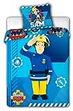 SAM Feuerwehrmann Bettwäsche Bettbezug 100x 135+ Kissenbezug 40x 60Wäsche Wendebettwäsche Feuerwehrmann Sam 100% Baumwolle
