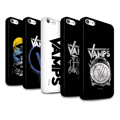 Offiziell The Vamps Hülle / Matte Snap-On Case für Apple iPhone SE / Pack 6pcs Muster / The Vamps Graffiti Band Logo Kollektion Pack 6pcs