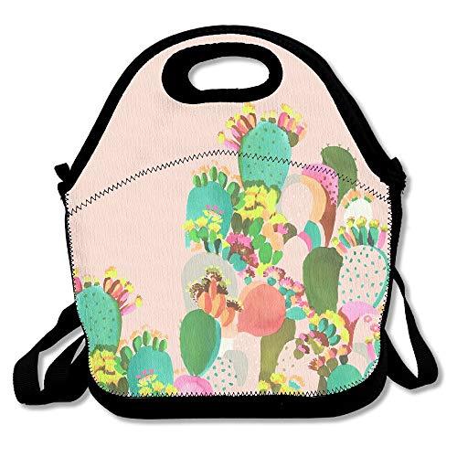 Individuelles Design Kaktus, wiederverwendbar, mit Reißverschluss, für Büro, tragbare Lunchbox, Kühltasche, Lunchtasche für Jungen und Mädchen