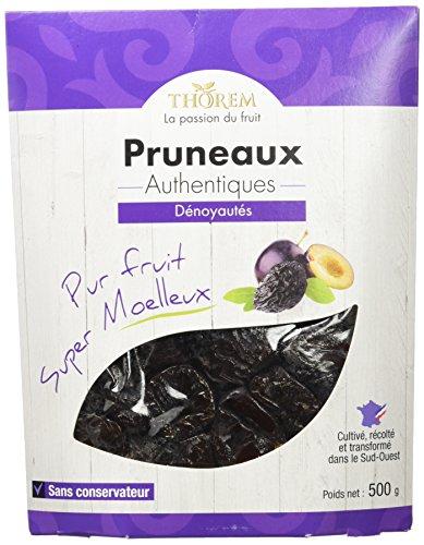 THOREM Sachet sous Etui Gourmet Pruneaux Mi-Cuits Dénoyautés Calibre 44/55 500 g