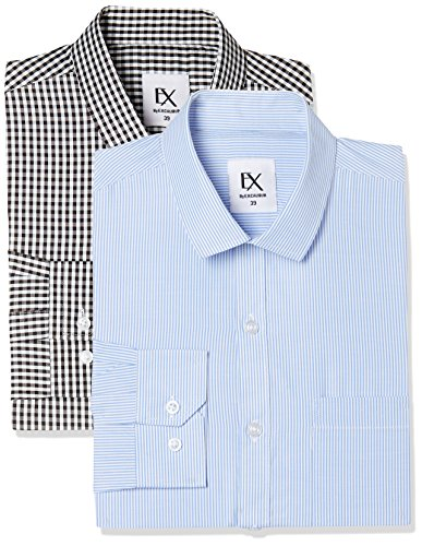 Excalibur by Unlimited Men's Solid Regular Fit Formal Shirt (Pack of 2) (275367303 ASSORTED 40)