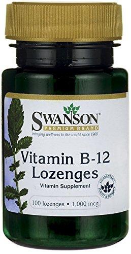 Swanson Vitamine B12 (Vitamin B-12 Lozenges, 1000mcg - 100 lozenges)