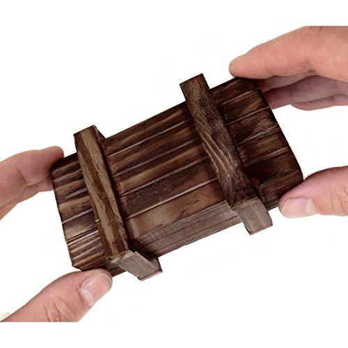 Magische Geschenkbox mit Trickverschluss - dunkel
